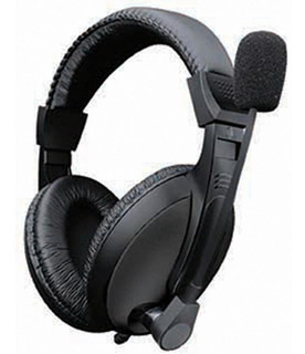 Audifonos Diadema Star Tec 3.5 Mm Negro Con Microfono St-hp-