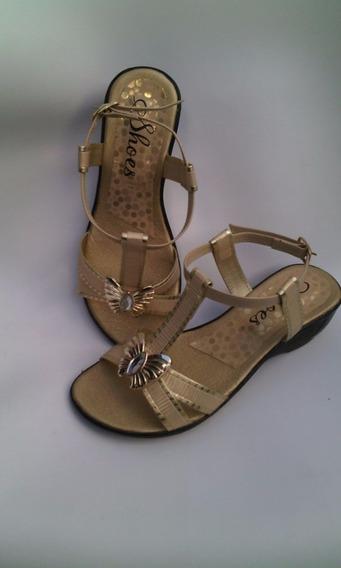 Sandalia De Tiras Muy Elegante Moda Suela Baja Envio Gratis