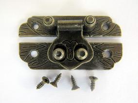 Fecho Trava De Metal Pequeno Para Caixa De Jóia De Madeira