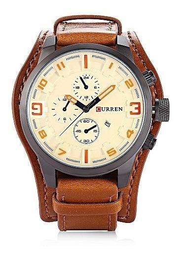 Relógio Masculino Curren Original Quartzo Luxo