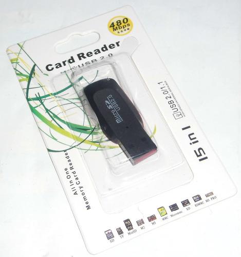 Lector Memoria Micro Sd Card Reader Usb Pendrive Adaptador