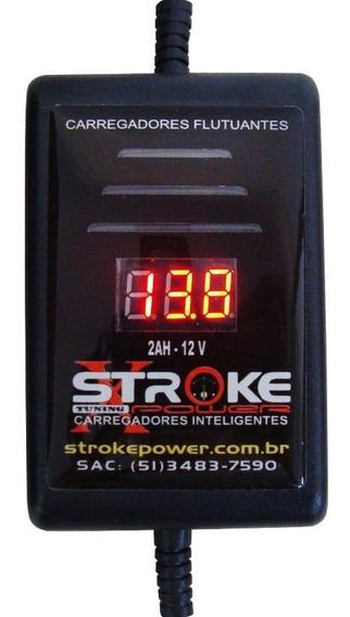 Carregador Bateria Moto 2ah 12v Automático Com Voltímetro