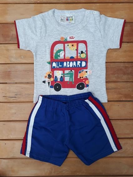 Conjunto Infantil Masculino Animais No Ônibus