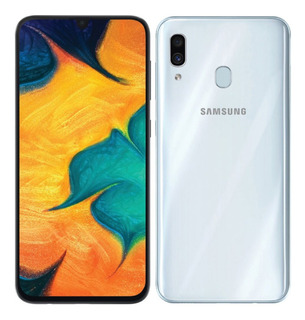 Celular Samsung Galaxy A30, 32 Gb. Color Blanco. Nuevo