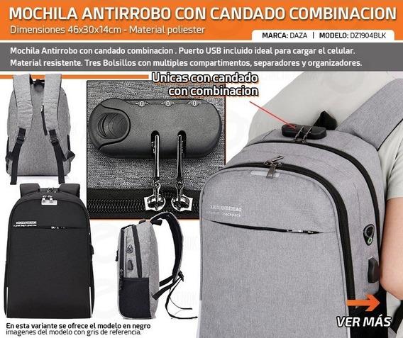 Mochila Antirrobo Porta Notebook Urbana Acolchada Conectivid