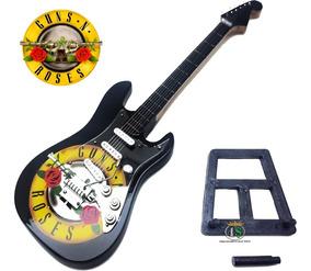 Guitarra Rock Enfeite Miniatura 25cm Madeira - Guns N Roses