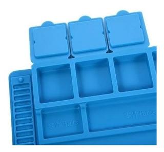 Manta Magnética Silicone Esd Antiestática Azul S-160 45x30cm
