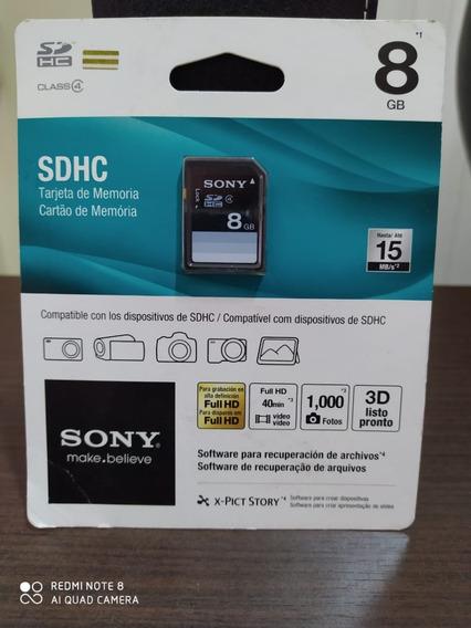 Cartão De Memória Sd 8gb Sony