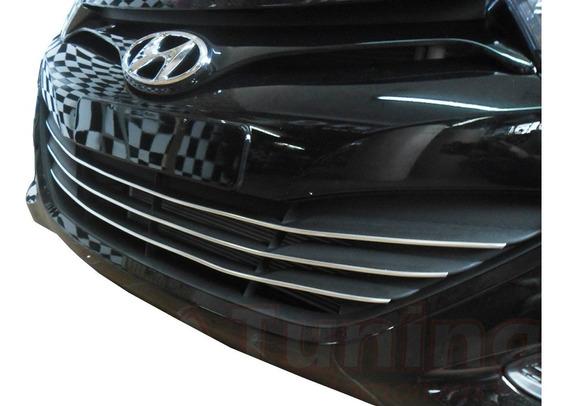 Friso Cromado Mod3f Parachoque Inferior Grade Hyundai Hb20