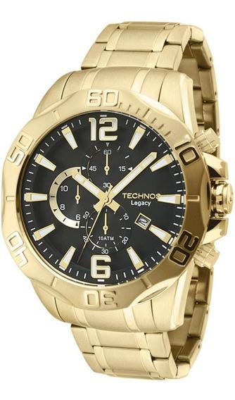 Relógio Technos Os1aap/4p - Cronógrafo Dourado 12x Sem Juros
