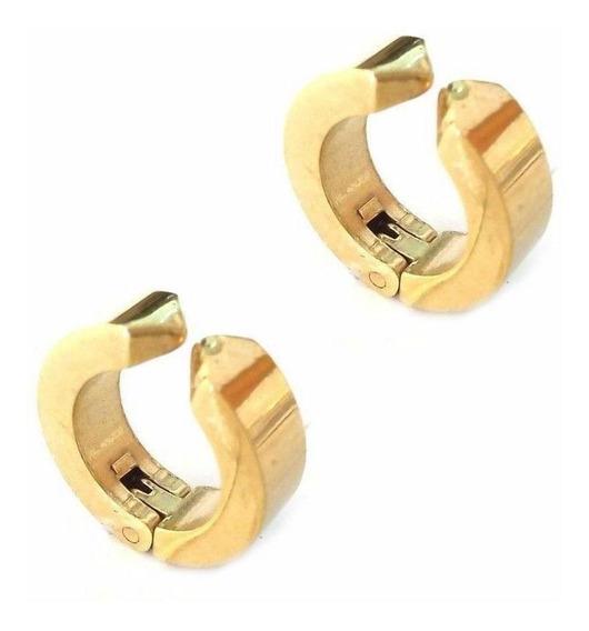 Gold - No Piercing Clip En Falsos Hombres Niño Oído Stu-5468