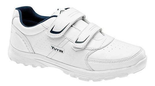 Yuyin Tenis Escolar Niño Blanco Sintético N24097 Udt