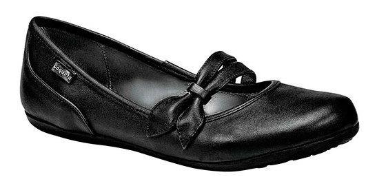 Zapato Escolar Mujer Coqueta Negro Piel Moño C23293 Udt