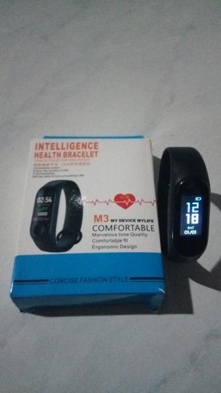 Relógio Smartwatch M3 Monitor Cardíaco, Pressão Arterial.