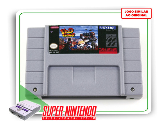 Wild Guns Super Nintendo Snes - Novo