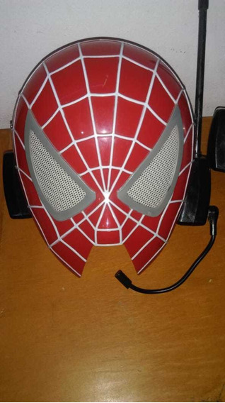 Mascara Spiderman Original, Con Micrófono.