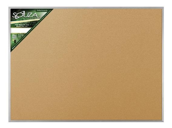 Quadro De Cortiça 120x90 Cm Moldura Alumínio Popular 5706