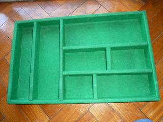 Cajon,caja Cubiertero,organizador De Cubiertos Madera Y Paño