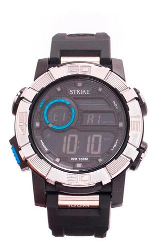 Reloj Strike Watch Resina M1202-0aac-bkbk Hombre Original