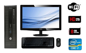 Pc Hp Elite G1 800 Core I7 4770 -8gb Ram Hd 1tb - Monitor 19