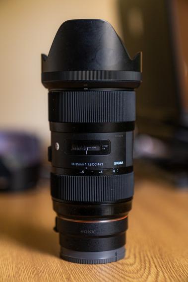 Lente Sigma 18-35mm F/1.8 Série Art (leia A Descrição)