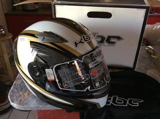 Casco De Moto Kbc Vr Negro Con Blanco Nuevo Xl Extra Grande