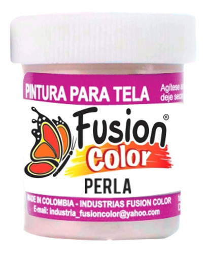 Imagen 1 de 1 de Pintura Para Tela Perla X 30 Cc Fusion Color