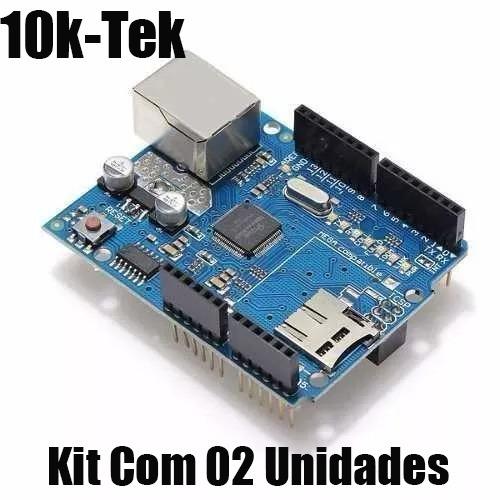 3x Arduino Ethernet Shield W5100 Com Slot Para Sd Card