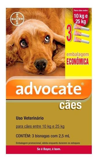 Antipulgas Bayer Advocate Combo Cães De 10 A 25 Kg