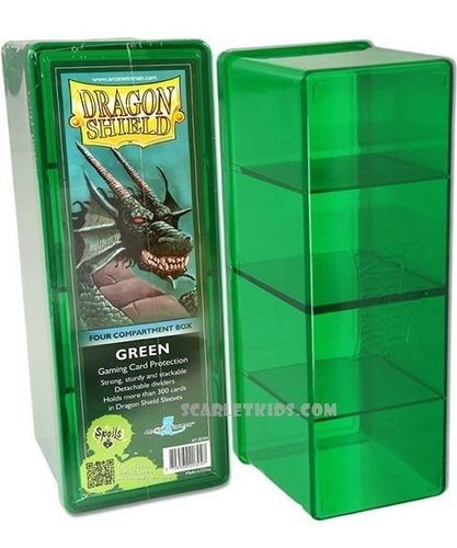 Caja 4 Compartimientos Dragon Shield Verde