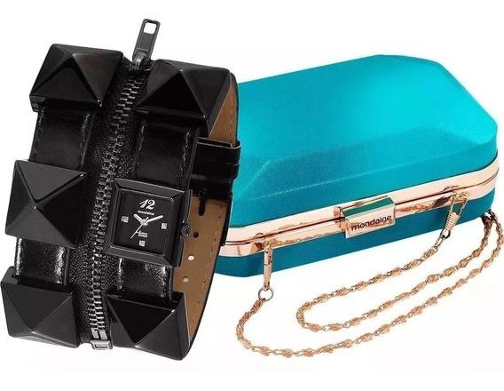 Relógio Mondaine Analógico Fashion 76331lpmfph2k1 + Bolsa