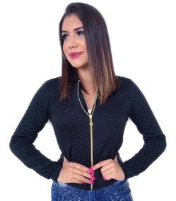 Jaqueta Jaquetinha Blusa Bomber Mulher Feminina De Frio Top