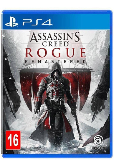 Assassins Creed Rogue Remaster Mídia Física Ps4 + Brinde