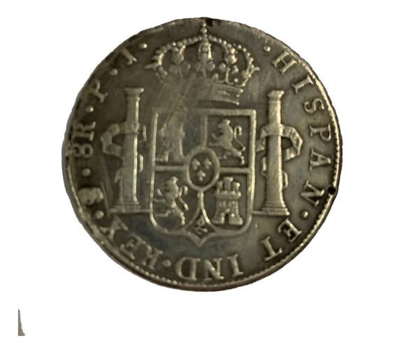 Carolus 8 Reales 1808 Mo Th Colonial Mexico C Iiii Plata