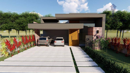 Casa Térrea 3 Suítes À Venda, 229m², Alphaville Nova Esplanada I, Campolim, Em Votorantim/sp - Ca0410