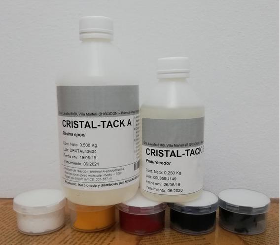 Vidrio Líquido-resina Epoxi Cristal C/ 5 Pastas Color. Kit