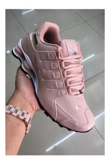 Tênis Nike Shox Lançamento 2019 Original Rosa Queima De Esto