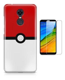 Capa Xiaomi Redmi 5 Plus Pokémonpokeball + Pel Vidro (bd01)