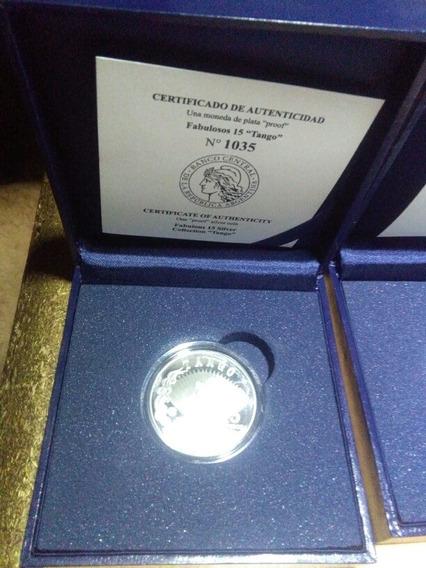 Fabulosos 15 Tango Moneda Plata Con Certificado De Autentica
