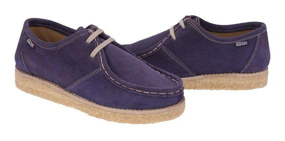 Sapato London Style Estilo Clarks Couro Camurça Retrô