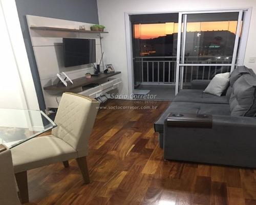 Imagem 1 de 15 de Vendo Apto 61m² - 2 Dorms - 1 Suíte - Life Park - Apartamento A Venda No Bairro Vila Augusta - Guarulhos, Sp - Sc01299