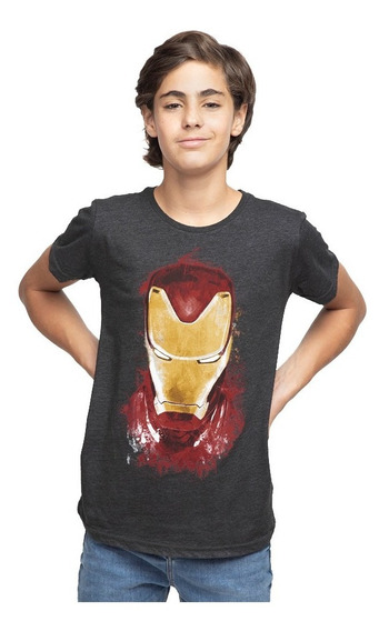 Playera Niño Golden Avenger Licencia Marvel