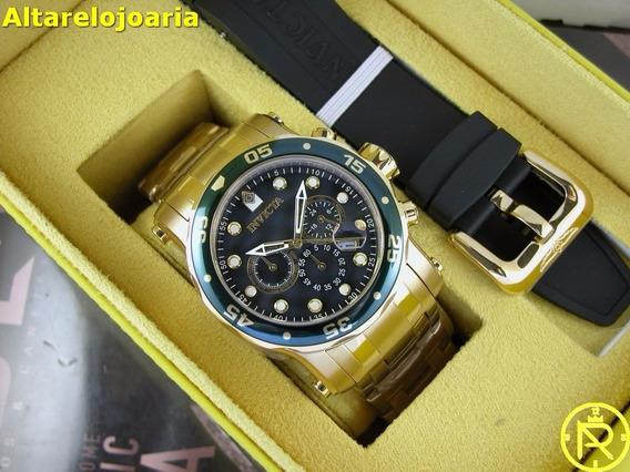 Invicta 23671 Pro Diver Troca Pulseira Plaque Ouro