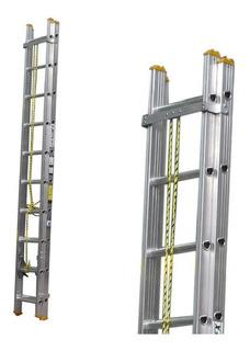 Escalera Aluminio Escalumex Extensión 36 Peldaños 10.98 Mts
