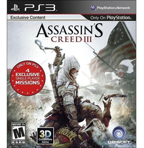 Jogo Assassins Creed 3 Ps3 Midia Fisica Lacrado