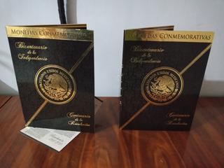 Album Coleccionador De Monedas 5 Pesos Bimetalicas Conmemora