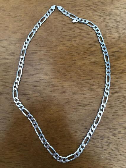 Cordão Corrente Elos 3x1 Em Prata 925 60cm