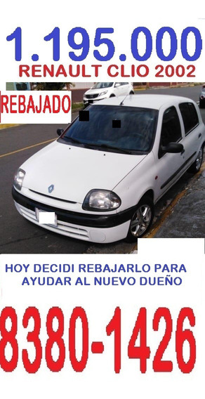 Renault Clio 2002 Hb - -..1.195.000-rebaje- Al Dia- 83801426
