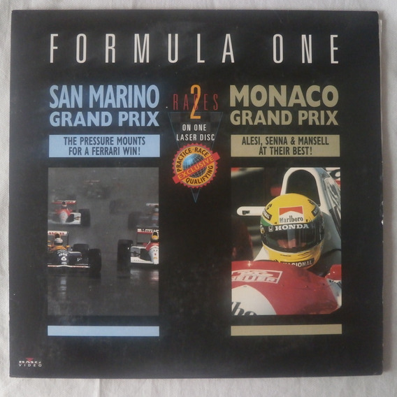 Ld Laser Disc Formula One Corridas 1991 Sam Marino E Mônaco