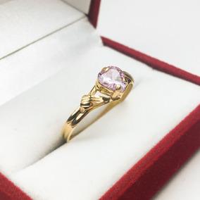 45ab0203591d Anillos Oro 18k Mujer Con Piedra Corazon Grande Compromiso